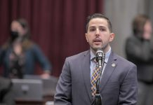 Rep. Phil Christofanelli, R-St. Peters, sponsor of HB 349, speaks during the third reading of his legislation/