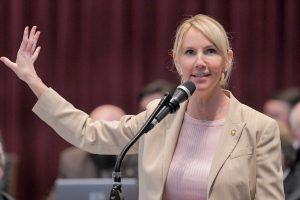 Rep. Dottie Bailey,R-Eureka, talks during debate on the House floor