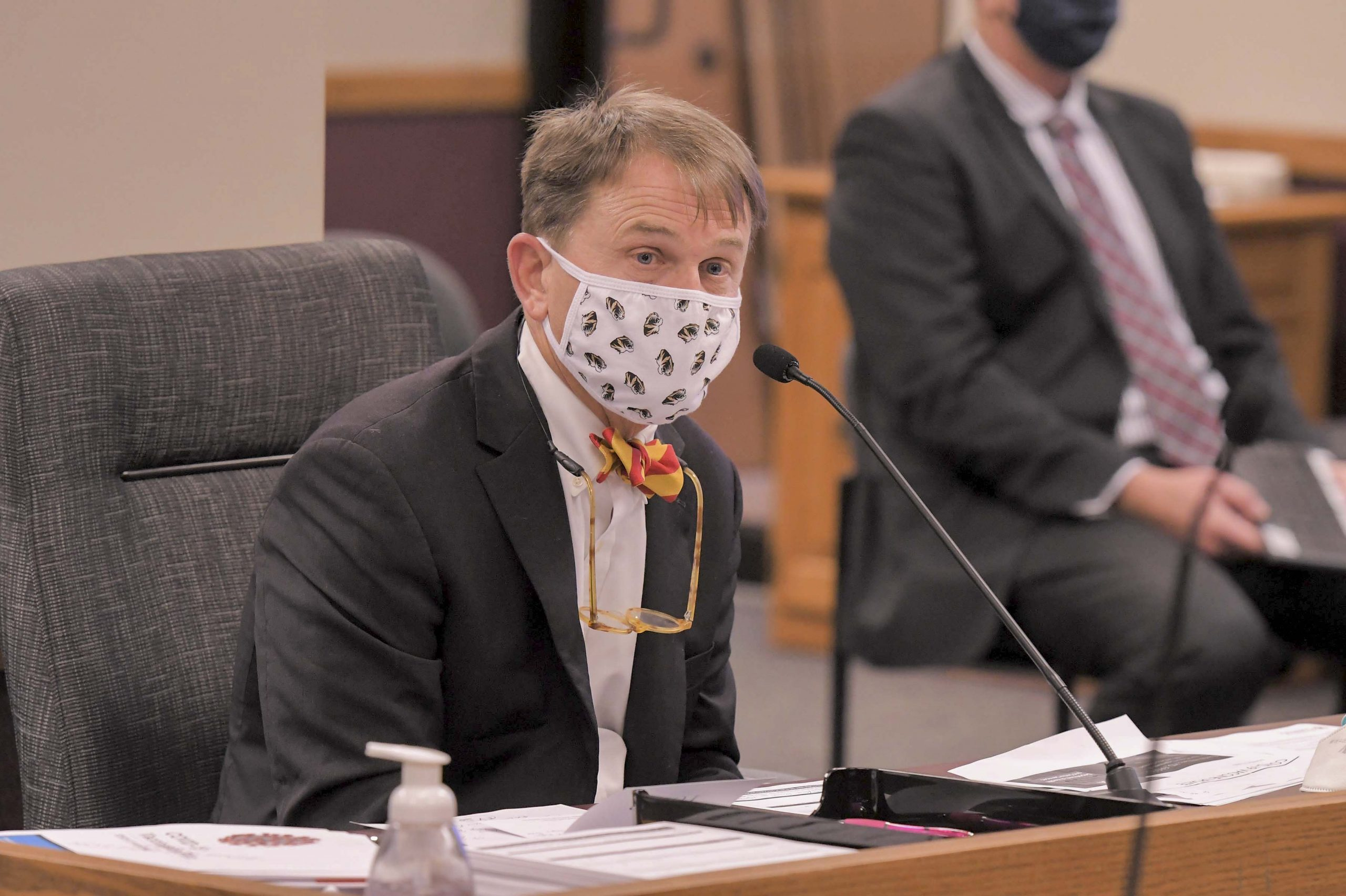Randall Williams, director of the Missouri Department of Health and Senior Services testifies before the House Special Committee on Disease Control and Prevention