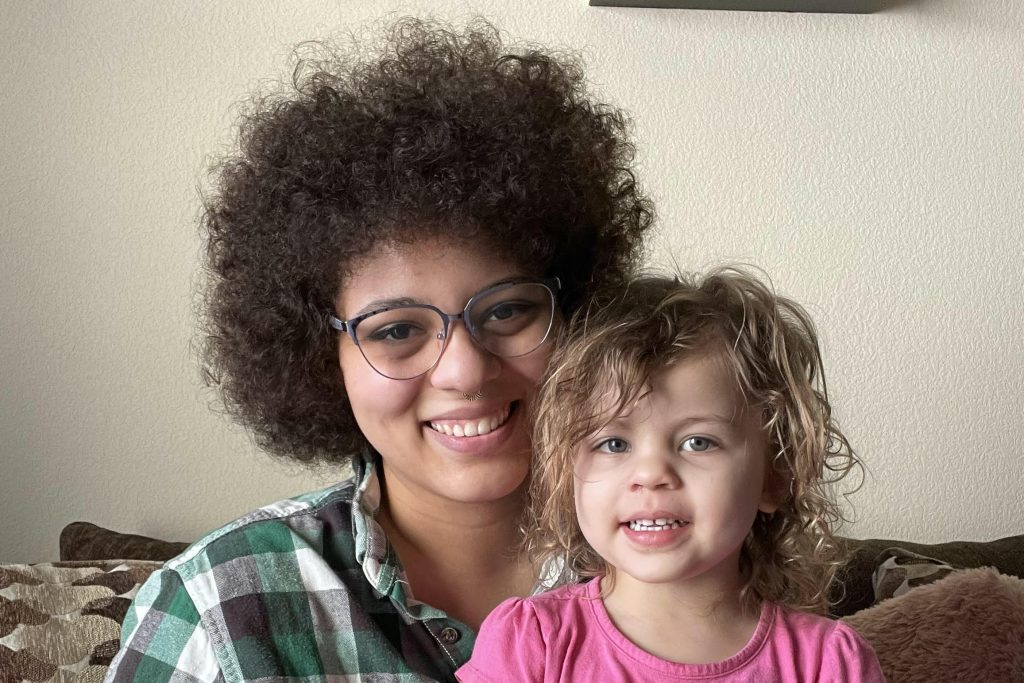 Aaliyah Bailey and her two-year old daughter, A'miyah Lehde-Bailey.
