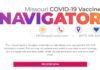 A screenshot of the landing page for Missouri's Vaccine Navigator