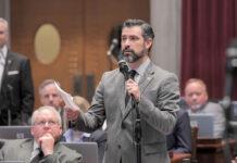 Rep. Ben Baker speaks on the House floor.