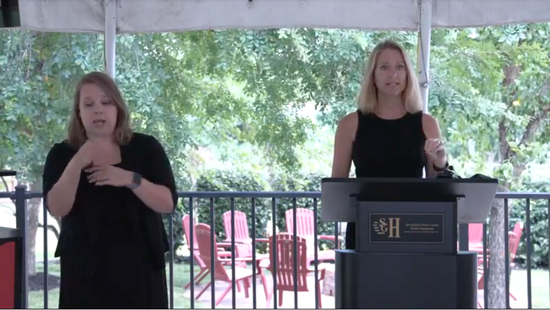 Kendra Findley, the administrator of community health and epidemiology at the Springfield-Greene County Health Department speaks about the prevalence of the Delta variant in the area during a press conference on Tuesday, June 22, 2021. (screenshot of Springfield-Greene County Public Health Department Livestream)