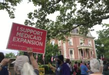Protesters at Medicaid expansion rally