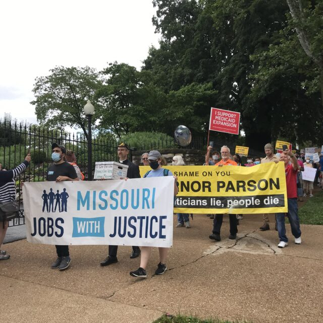 'Who do they work for': On day Medicaid expansion would have started, Missourians protest