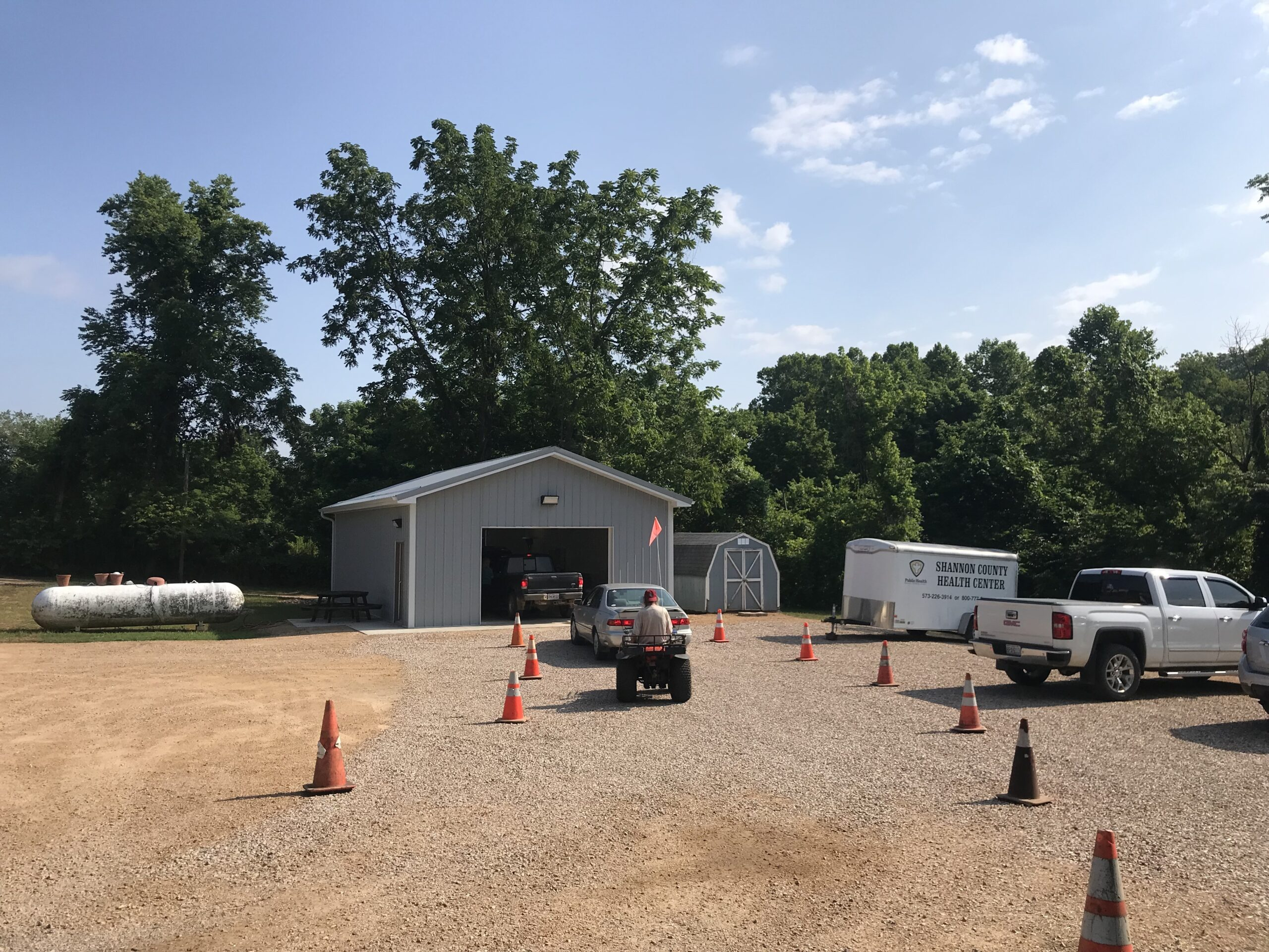 Shannon County vaccination clinic drive-through
